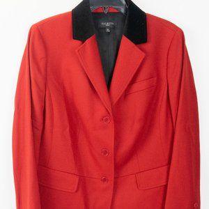Talbots Woman Red Wool Equestrian Style Blazer 12W